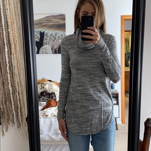 Lou grey cowl neck sweater shirt